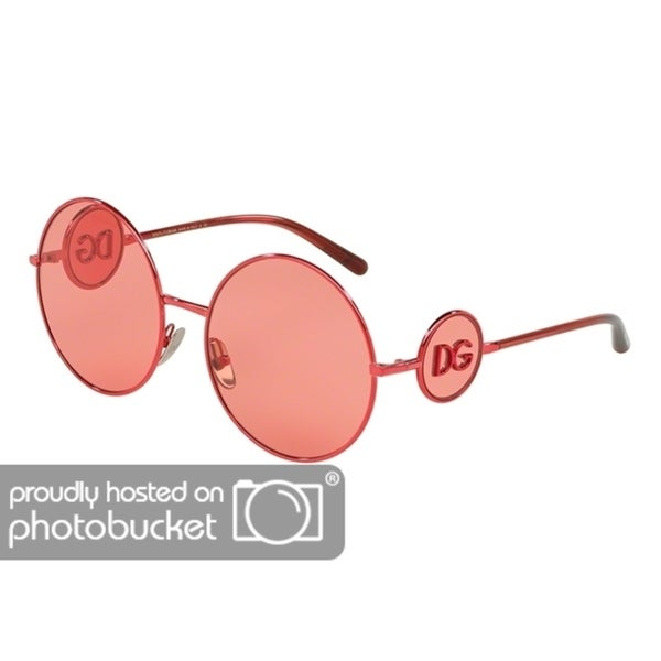 5f5cf5d0642 Shop Dolce   Gabbana Round DG2205 Women s Bordeaux Frame Pink Lens  Sunglasses - Free Shipping Today - Overstock - 25481277