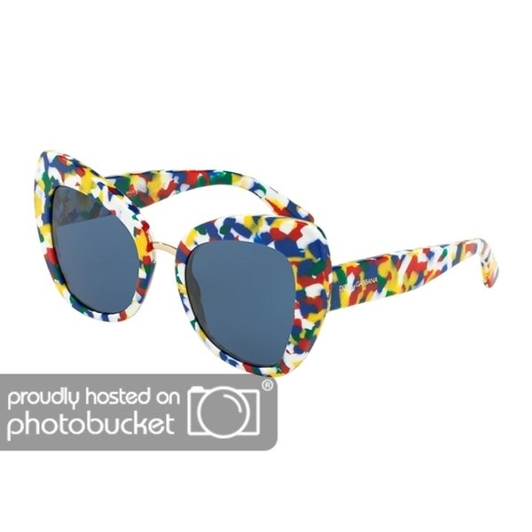 8497645fe39b Shop Dolce   Gabbana Butterfly DG4319 Women s Multicolor Cube Frame Blue  Lens Sunglasses - Free Shipping Today - Overstock - 25481295