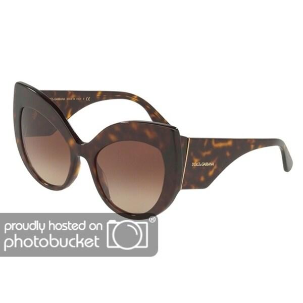 232aaa098367 Shop Dolce   Gabbana Cat Eye DG4321 Women s Havana Frame Brown Gradient  Lens Sunglasses - Free Shipping Today - Overstock - 25481332