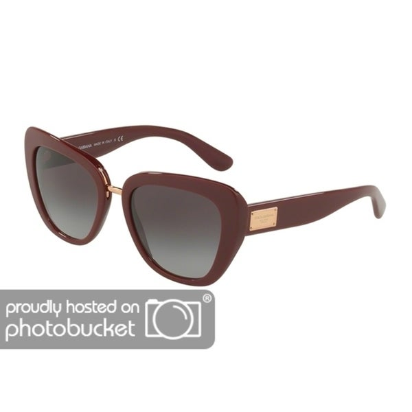 ab91182d527 Shop Dolce   Gabbana Butterfly DG4296 Women s Bordeaux Frame Grey Gradient  Lens Sunglasses - Free Shipping Today - Overstock - 25481333