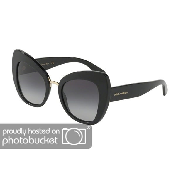 172c6f67eb57 Shop Dolce   Gabbana Women s DG4319F Black Frame Grey Gradient Lens  Butterfly Sunglasses - Free Shipping Today - Overstock - 25481339