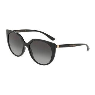 Dolce & Gabbana Butterfly DG6119 Women's Black Frame Grey Gradient Lens Sunglasses