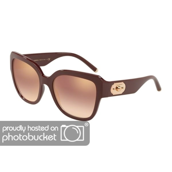 3269865a303 Shop Dolce   Gabbana Butterfly DG6118 Women s Bordeaux Frame Gradient Pink  Mirror Pink Lens Sunglasses - Free Shipping Today - Overstock - 25481392