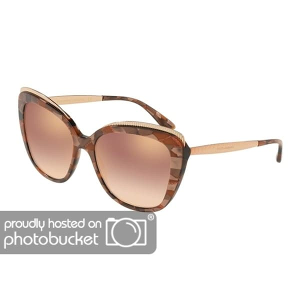 19c5a07235b5 Shop Dolce   Gabbana Butterfly DG4332 Women s Cube Bronze Frame Gradient  Pink Mirror Pink Lens Sunglasses - Free Shipping Today - Overstock -  25481393