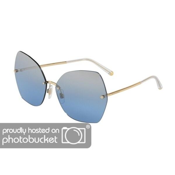 80748fb005 Shop Dolce   Gabbana Irregular DG2204 Women s Gold Frame Light Blue Mirror  Silver Grad Lens Sunglasses - Free Shipping Today - Overstock - 25481398