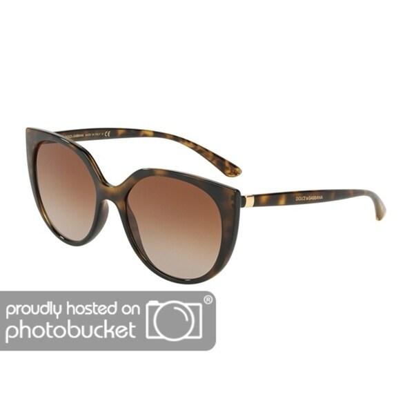 aad74c3ac29 Shop Dolce   Gabbana Butterfly DG6119 Women s Havana Frame Brown Gradient  Lens Sunglasses - Free Shipping Today - Overstock - 25481407