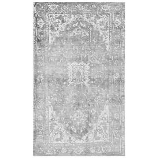 Handmade Distressed Silk Rug (India) - 3' x 5'