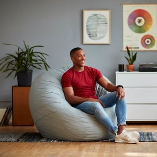 Shop Anti Pill 36 Inch Wide Fleece Washable Bean Bag Chair