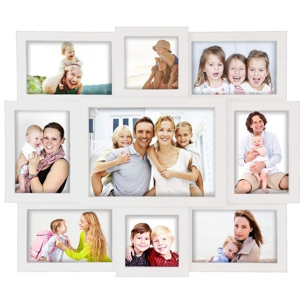 Jerry & Maggie - Photo Frame 16x19 White Picture Frame Selfie Gallery Collage Wall Hanging for 6x4 Photo