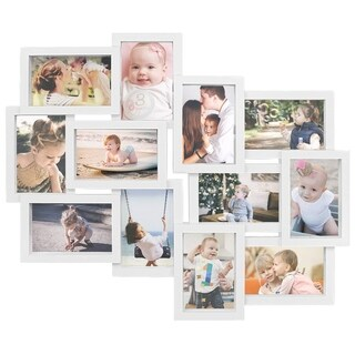 Jerry & Maggie - Photo Frame 19x22 White Picture Frame Selfie Gallery Collage Wall Hanging for 6x4 Photo