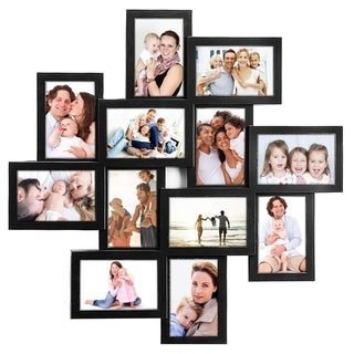 Link to Jerry & Maggie - Photo Frame 24x24 Square Storm Eye Black PVC Picture Frame Selfie Gallery Collage Wall Hanging for 6x4 Photo Similar Items in Decorative Accessories
