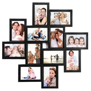 Jerry & Maggie - Photo Frame 24x24 Square Storm Eye Black PVC Picture Frame Selfie Gallery Collage Wall Hanging for 6x4 Photo