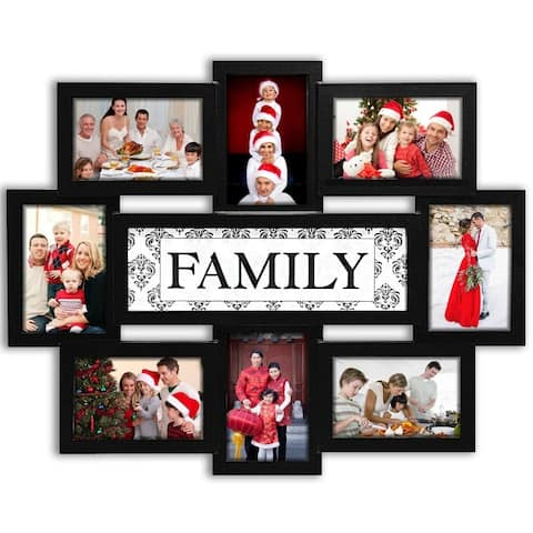 Jerry & Maggie - Photo Frame 22x17 Wood Tone Family Picture Frame