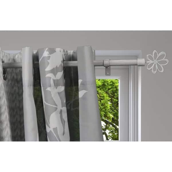 Evideco Extendable Curtain Rod Set 50 To 82 L Diam 0 6 Ninon Finial Overstock 25481637