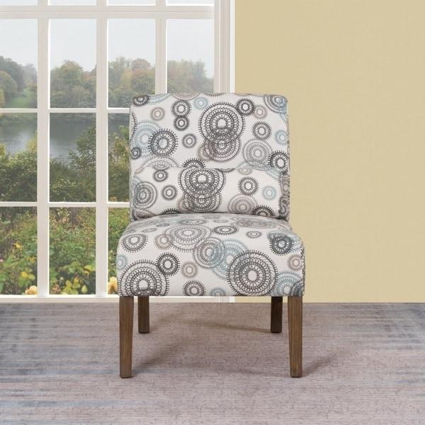 shop modern marie grey blue circles upholstered living