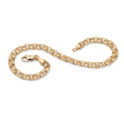 10K Yellow Gold Rolo Link Bracelet (4.5mm), 7.5""