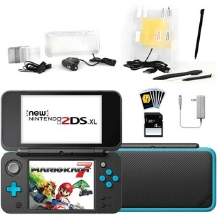 New Nintendo 2DSXL with Mario Kart 7 in Black with Accessories Kit