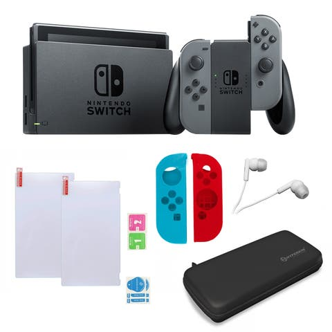 Nintendo Switch in Gray with Zelda Sleevs and Accessories Bundle - N/A - N/A