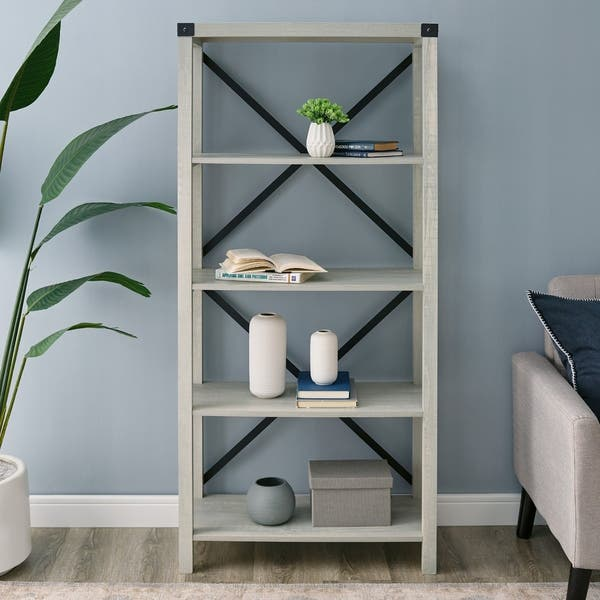 Shop The Gray Barn Kujawa 64 Inch Tall Bookshelf On Sale