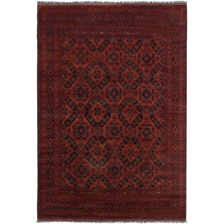 ECARPETGALLERY  Hand-knotted Finest Khal Mohammadi Red Wool Rug - 6'11 x 10'0