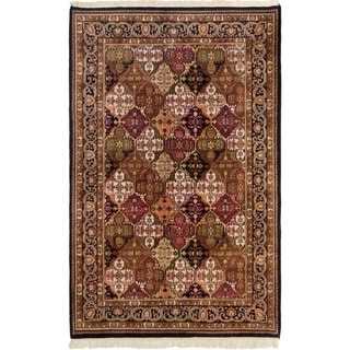 ECARPETGALLERY  Hand-knotted Jamshidpour Brown Wool Rug - 5'5 x 8'5