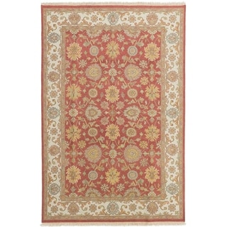 ECARPETGALLERY  Flat-weave Lahor Finest Red Wool Rug - 5'7 x 8'6