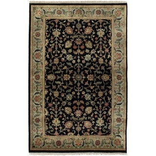 ECARPETGALLERY  Hand-knotted Jamshidpour Black Wool Rug - 3'10 x 6'2