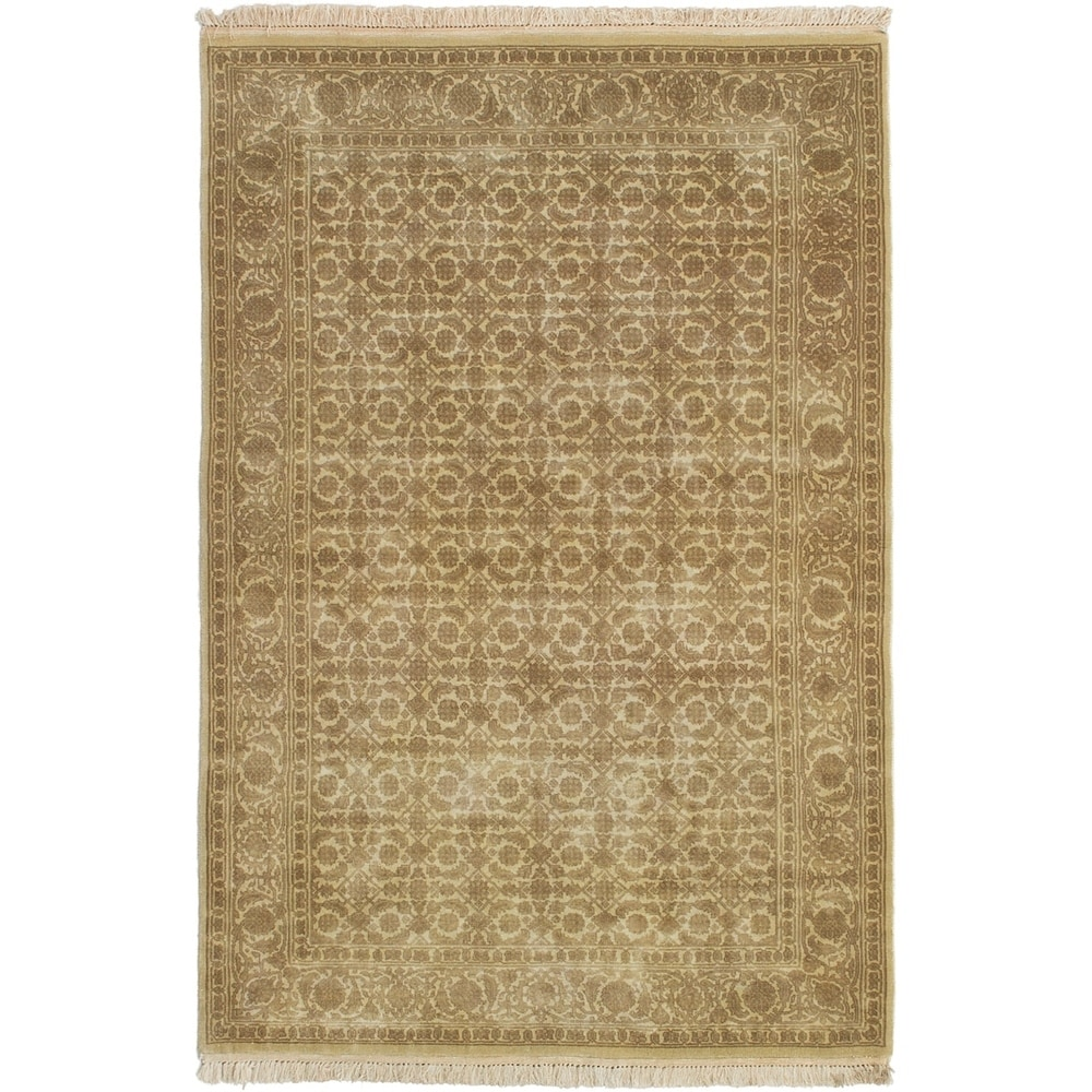 ECARPETGALLERY Hand-knotted Jamshidpour Brown Wool Rug - 3'11 x 5'10