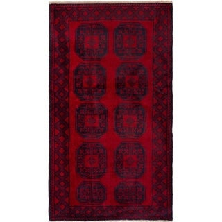 ECARPETGALLERY  Hand-knotted Teimani Red Wool Rug - 3'9 x 6'8