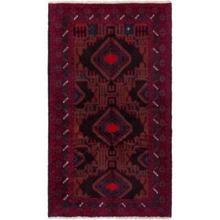 ECARPETGALLERY  Hand-knotted Kazak Red Wool Rug - 3'6 x 6'0