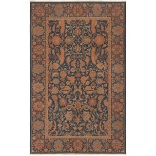 ECARPETGALLERY  Flat-weave Dynasty Dark Navy Wool Sumak - 5'7 x 8'9
