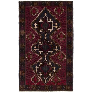 ECARPETGALLERY  Hand-knotted Kazak Red Wool Rug - 3'7 x 6'0