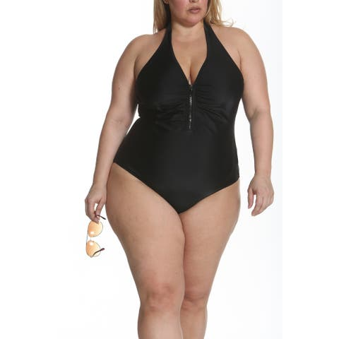 Sun and Sea Solid As A Rock Front Zipper One Piece