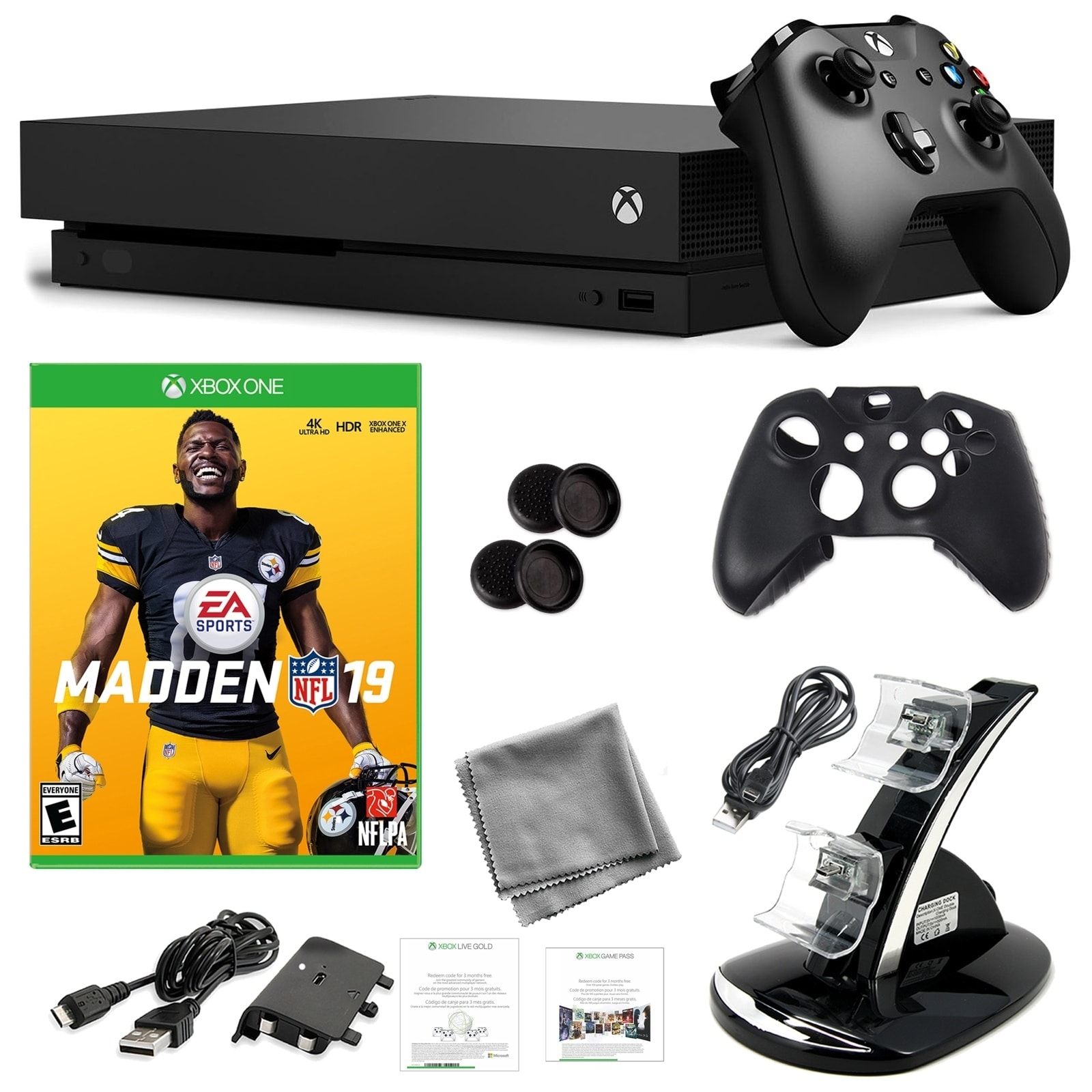 Xbox One X 1TB Console with Madden NFL 19 and Kit - N/A - N/A
