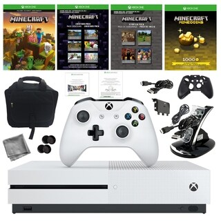 Xbox One S 1TB Minecraft Console with Console Bag and Kit