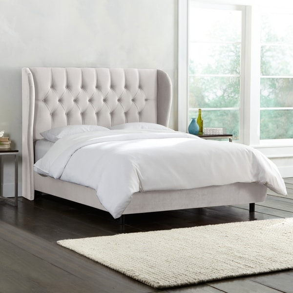 skyline furniture wingback bed | Shop Skyline Furniture Tufted Wingback Bed in Mystere ...