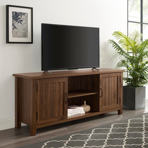 The Gray Barn Wind Gap Groove Door TV Stand Console - 58 x 16 x 24h