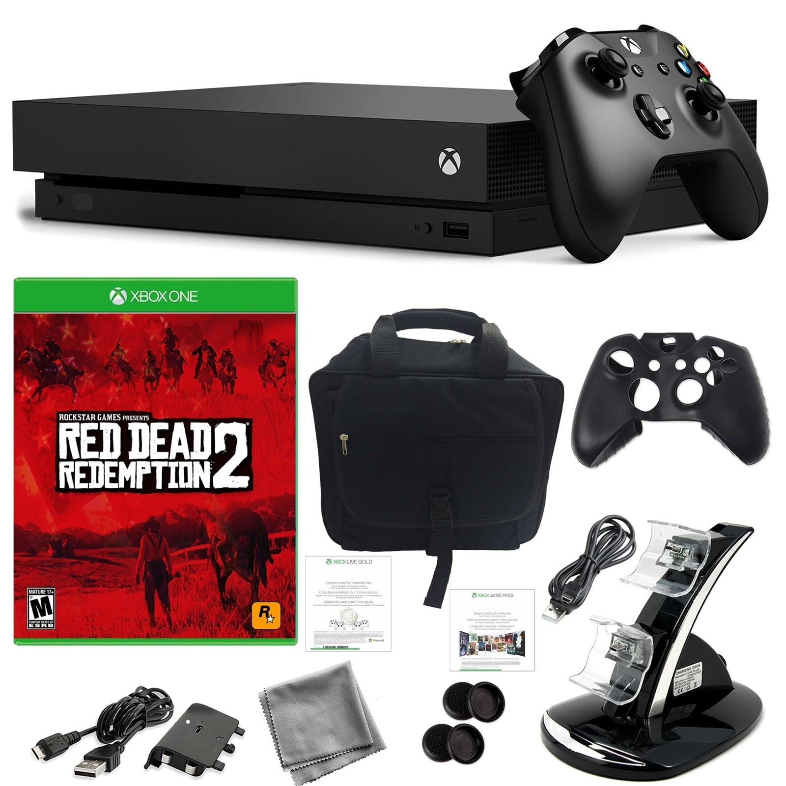 Xbox One X 1TB Console with Red Dead Redemption 2, Console Bag and Kit