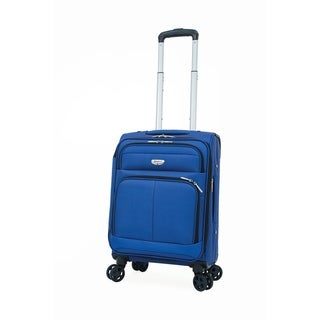 "Samboro Harmony Lite 18"" Expandable Carry-on Spinner - Blue Color"