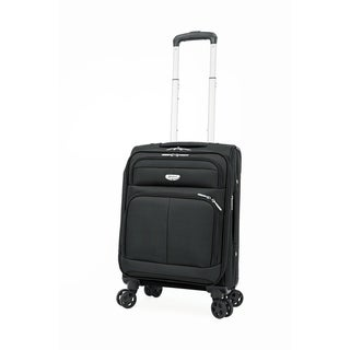 "Samboro Harmony Lite 18"" Expandable Carry-on Spinner - Black Color"