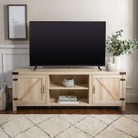 The Gray Barn Kujawa 70-inch Barn Door TV Stand Console - 70 x 16 x 24h
