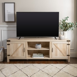 The Gray Barn Firebranch 70-inch Barn Door TV Stand Console