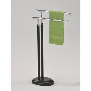 Modern Towel Rack-Chrome & Dark Grey