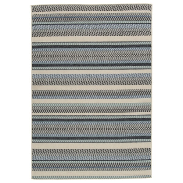 Troost Large Blue/Cream Rug - N/A