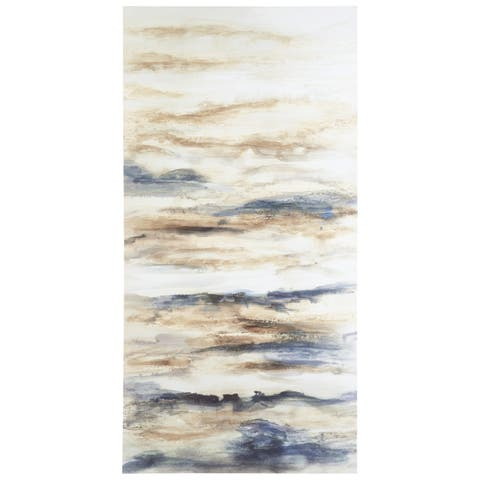 Joely Contemporary Blue/Tan Wall Art