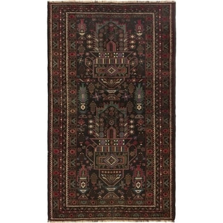 ECARPETGALLERY Hand-knotted Rizbaft Copper Wool Rug - 3'10 x 6'6