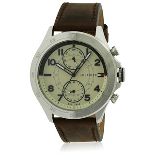 Tommy Hilfiger Leather Chronograph Mens Watch 1791344