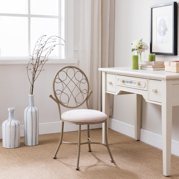 Shop Transitional Vanity Chair Champagne Gold   On Sale   Free