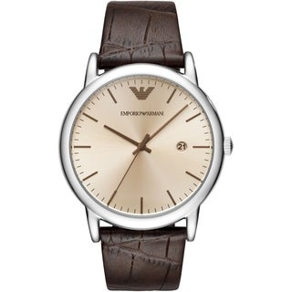 Emporio Armani 20TH Anniversary Leather Mens Watch AR11096