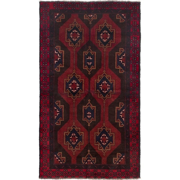 ECARPETGALLERY Hand-knotted Teimani Dark Copper Wool Rug - 3'5 x 6'4